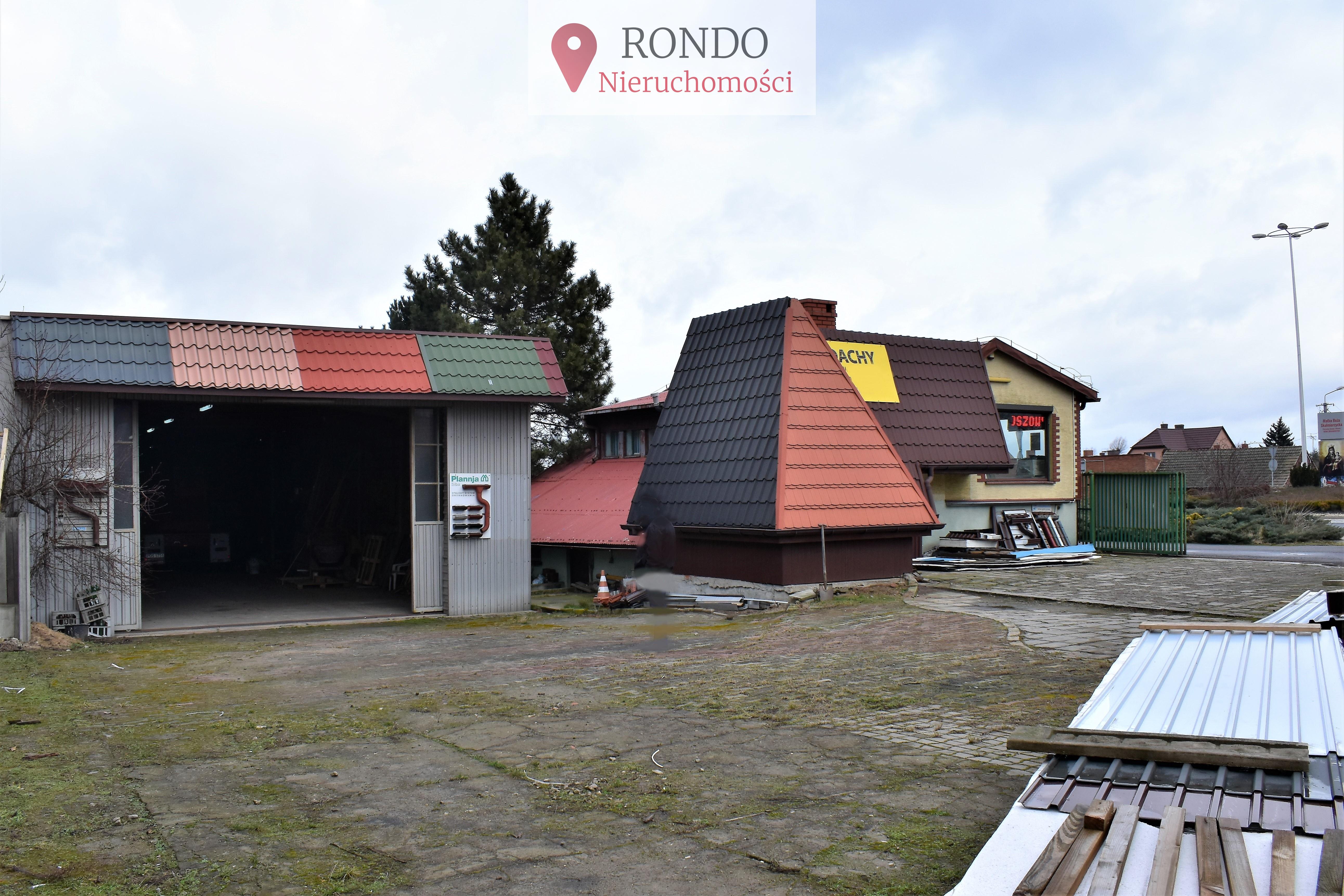 Nieruchomość gruntowa z budynkiem handlowo usługowym Skalmierzyce